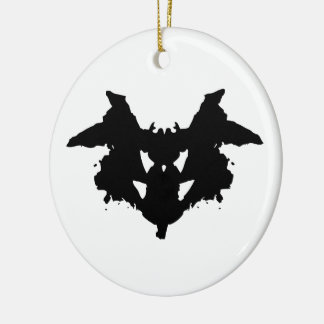 Rorschach Inkblot Ceramic Ornament