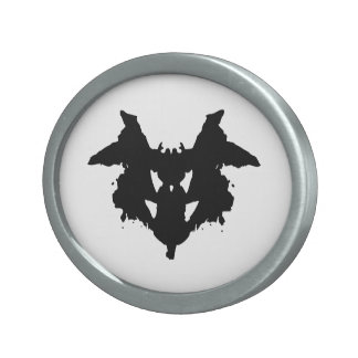 Rorschach Inkblot Oval Belt Buckles