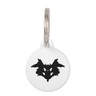 Rorschach Inkblot Pet Name Tag