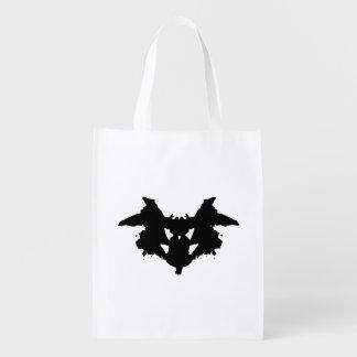 Rorschach Inkblot Reusable Grocery Bags