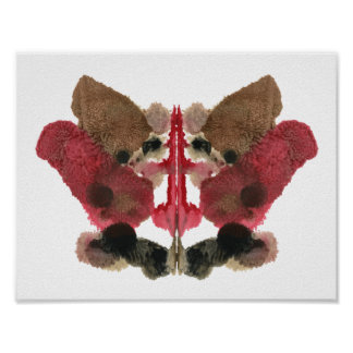 Rorschach Inkblot Test. Don't Call Me Crazy Poster