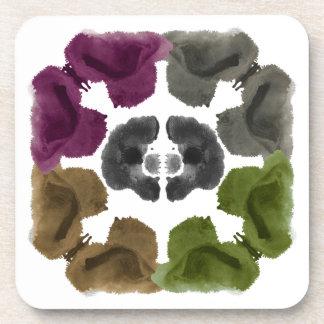 Rorschach Inkblot Test Fun Art Coaster