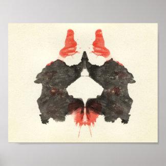 Rorschach Inkblot Test Fun Art Poster