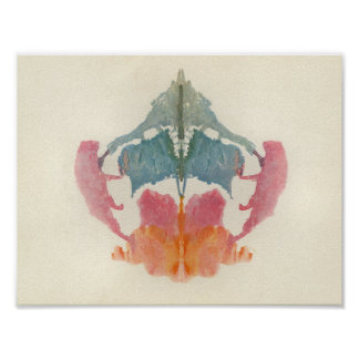 Rorschach Inkblot Test Fun Art Poster