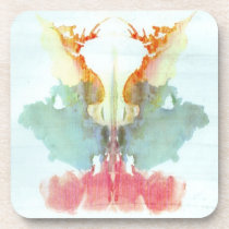 Rorschach Inkblot Test Psychiatry Beverage Coaster