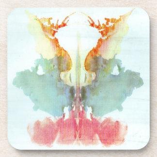 Rorschach Inkblot Test Psychiatry Beverage Coaster