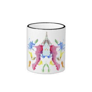 Rorschach  InkBlots Test Plate 10 Ringer Coffee Mug