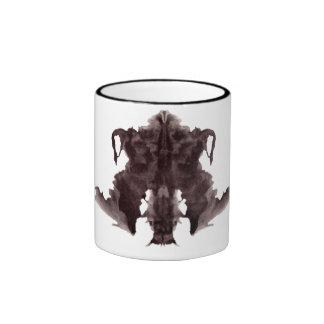 Rorschach  InkBlots Test Plate 4 Ringer Coffee Mug