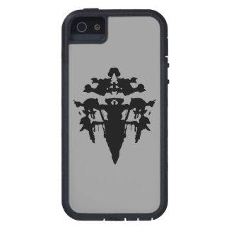 Rorschach negro en la caja dura gris del iPhone 5 iPhone 5 Case-Mate Carcasas