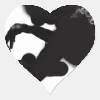Rorschach stains heart sticker