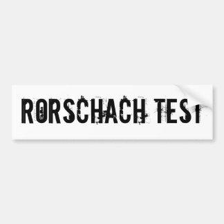Rorschach Test Car Bumper Sticker
