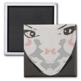 Rorschach Test Face Magnet