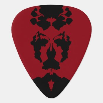 Rorschach Test Guitar Pick by BettysView at Zazzle