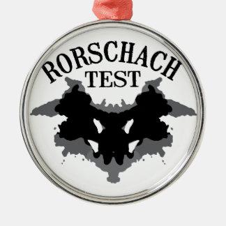 Rorschach Test Metal Ornament