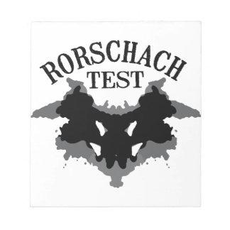 Rorschach Test Notepad