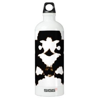 Rorschach Test of an Ink Blot Card Aluminum Water Bottle