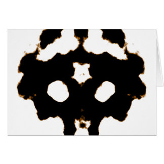 Rorschach Test of an Ink Blot Card in Black