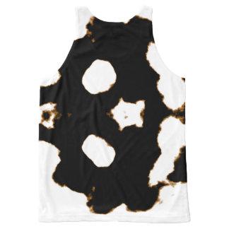 Rorschach Test of an Ink Blot Card in Black All-Over Print Tank Top