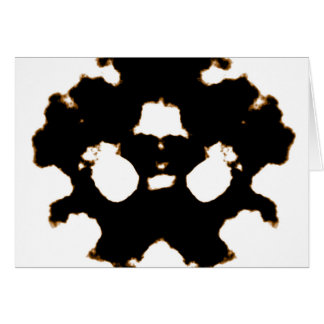 Rorschach Test of an Ink Blot Card in Black and Wh