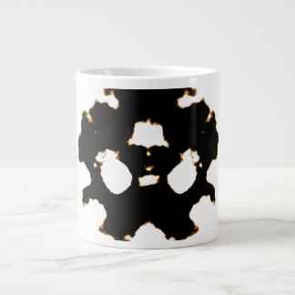 Rorschach Test of an Ink Blot Card in Black and Wh Large Coffee Mug