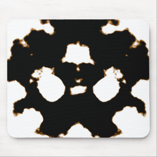 Rorschach Test of an Ink Blot Card in Black and Wh Mouse Pad