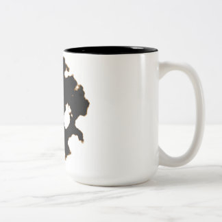 Rorschach Test of an Ink Blot Card in Black and Wh Two-Tone Coffee Mug