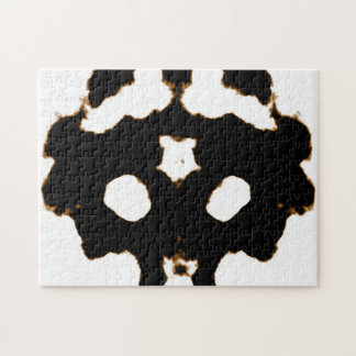 Rorschach Test of an Ink Blot Card in Black Jigsaw Puzzle