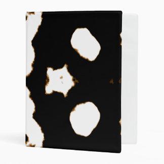 Rorschach Test of an Ink Blot Card in Black Mini Binder