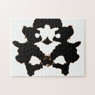 Rorschach Test of an Ink Blot Card Jigsaw Puzzle