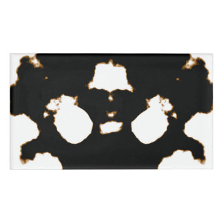 Rorschach Test of an Ink Blot Card Name Tag