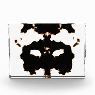 Rorschach Test of an Ink Blot Card on White Acrylic Award