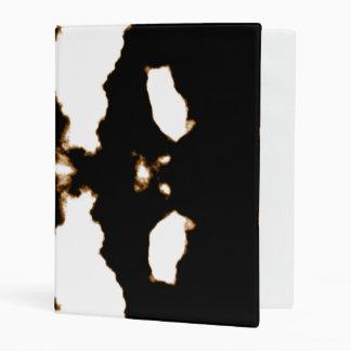 Rorschach Test of an Ink Blot Card on White Mini Binder