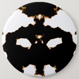 Rorschach Test of an Ink Blot Card on White Pinback Button