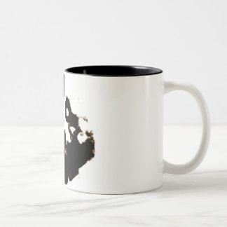 Rorschach Test of an Ink Blot Card on White Two-Tone Coffee Mug