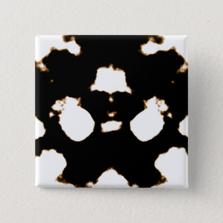 Rorschach Test of an Ink Blot Card Pinback Button