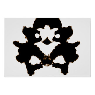 Rorschach Test of an Ink Blot Card Poster