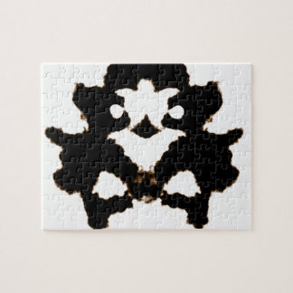 Rorschach Test of an Ink Blot Card Puzzle