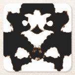 Rorschach Test of an Ink Blot Card Square Paper Coaster