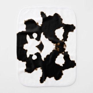 Rorschach Test of an Ink Blot Card Baby Burp Cloths