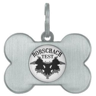Rorschach Test Pet Tag
