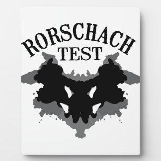 Rorschach Test Plaque