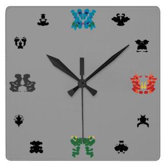 Rorschach Wall-Clock