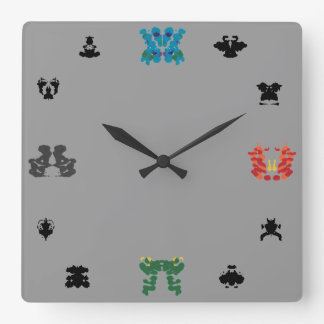 Rorschach Wall-Clock Square Wall Clock