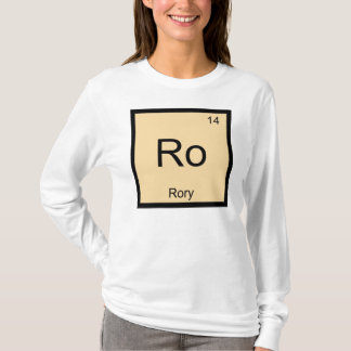 Rory Name Chemistry Element Periodic Table T-Shirt