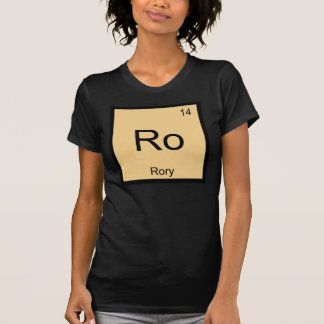 Rory Name Chemistry Element Periodic Table Tee Shirt