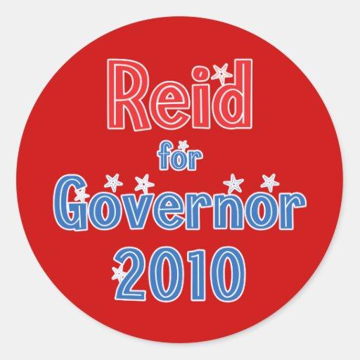 Rory Reid for Governor 2010 Star Design Round Sticker