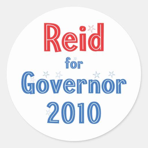 Rory Reid for Governor 2010 Star Design Round Stickers