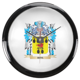Ros Coat of Arms - Family Crest Fish Tank Clocks