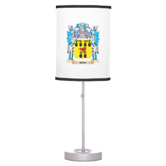 Ros Coat of Arms - Family Crest Desk Lamp
