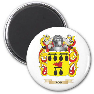 Ros Coat of Arms (Family Crest) 2 Inch Round Magnet